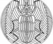 Coloring pages Mandala insects