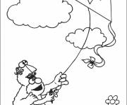 Coloring pages Cartoon kite