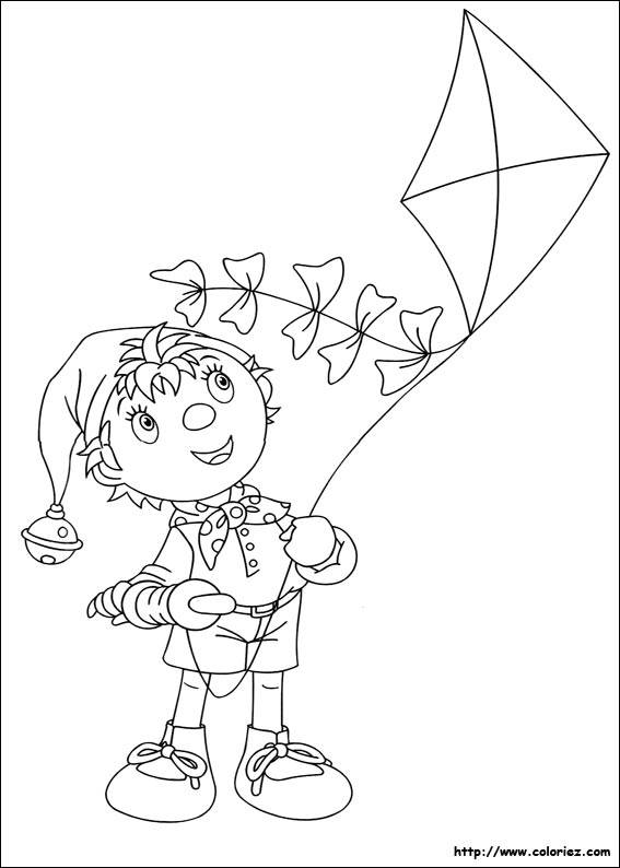 Free coloring and drawings Child tries to fly the kite Coloring page