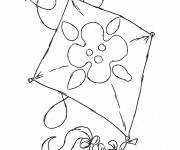 Free coloring and drawings Children's kite Coloring page