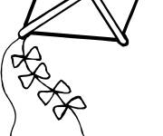 Free coloring and drawings Color kite Coloring page