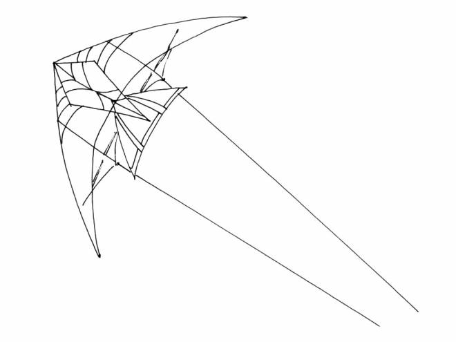 Free coloring and drawings Coloring kite Coloring page