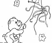 Coloring pages Cute bear and his kite