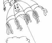 Coloring pages Fantastic kite in the sky