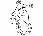 Coloring pages Happy outdoor kite