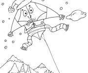 Coloring pages Humorous kite