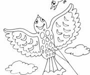 Coloring pages Kite and The Bird