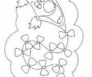 Coloring pages Kite behind the clouds