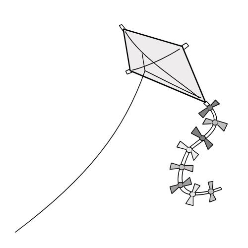 Free coloring and drawings Kite in Gray Coloring page