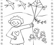 Coloring pages Kite in Nature