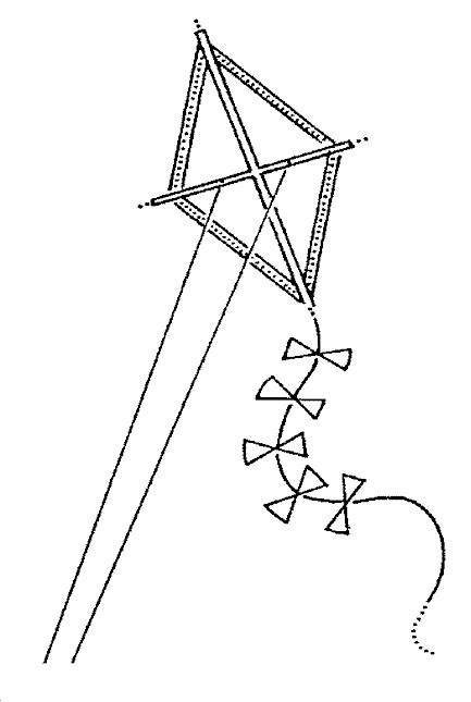 Free coloring and drawings Kite in the air Coloring page