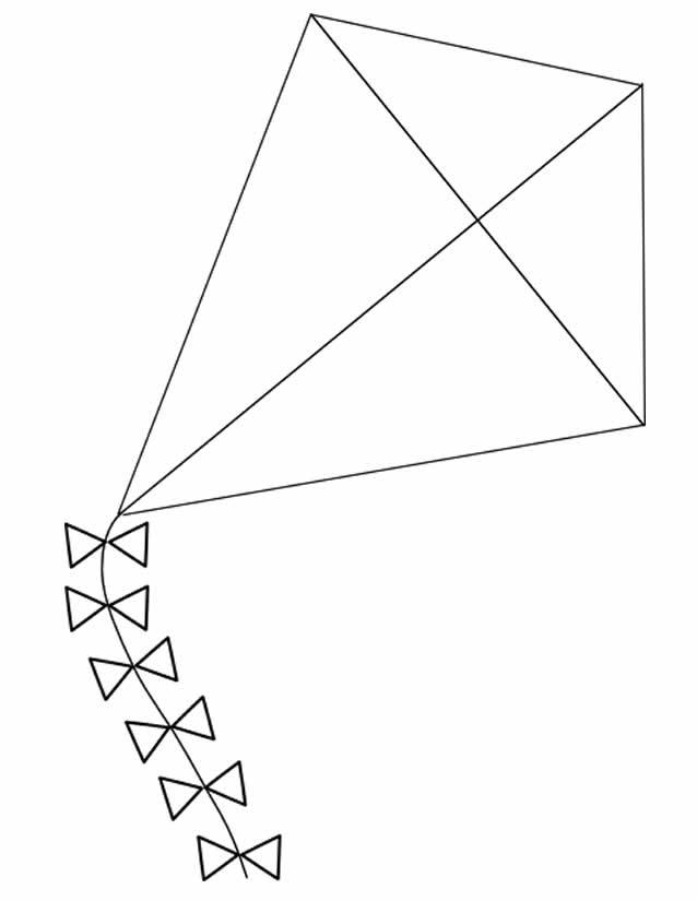 Free coloring and drawings Kite model Coloring page