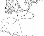 Coloring pages Kite with binoculars