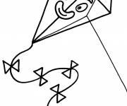 Free coloring and drawings Kite with face Coloring page