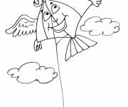 Coloring pages Kite with wings