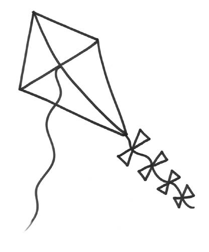 Free coloring and drawings Online kite Coloring page