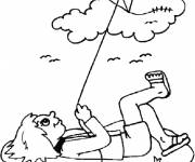 Coloring pages Outdoor kite