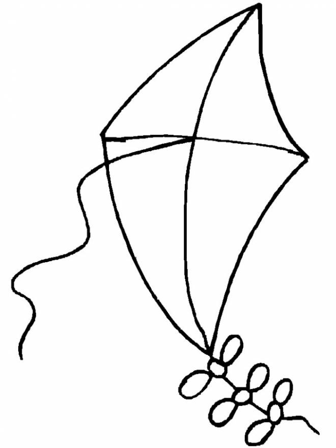 Free coloring and drawings Single kite Coloring page