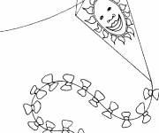 Coloring pages Sun-shaped kite