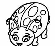 Coloring pages A beautiful ladybug