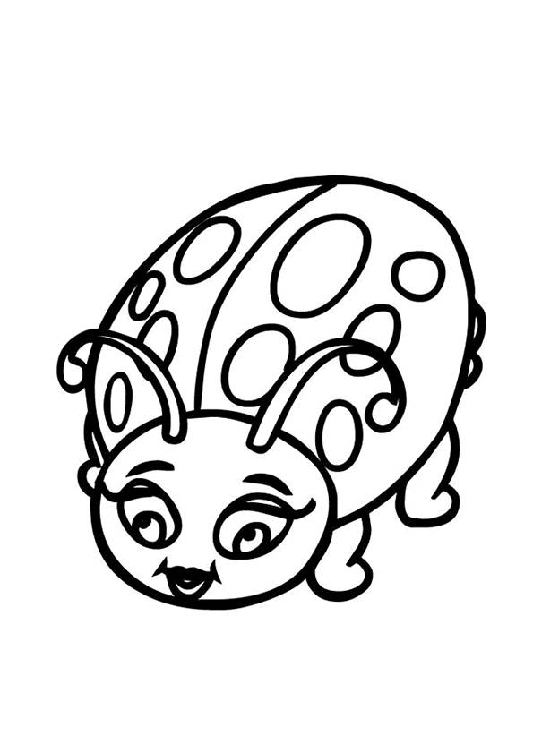 Free coloring and drawings A beautiful ladybug Coloring page