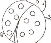 Coloring pages A big ladybug