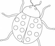 Free coloring and drawings A maternal ladybug Coloring page