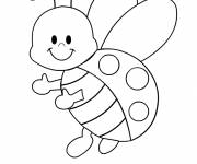 Free coloring and drawings Cute ladybug Coloring page