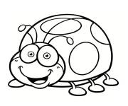 Free coloring and drawings Funny ladybug Coloring page
