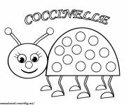 Coloring pages Geometric ladybug