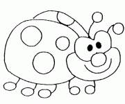 Coloring pages Happy ladybug