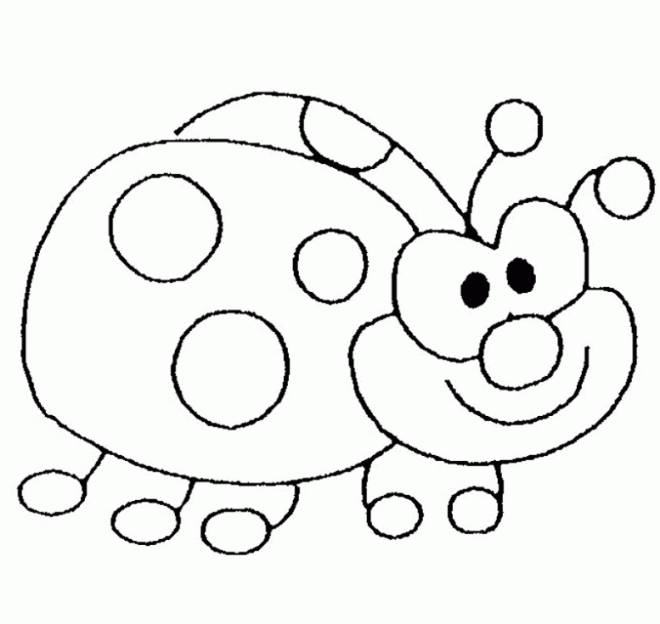 Free coloring and drawings Happy ladybug Coloring page
