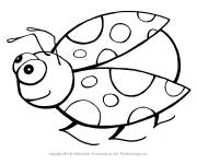 Free coloring and drawings Humorous ladybug Coloring page