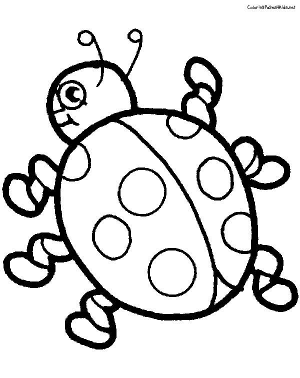 Free coloring and drawings Ladybug and her feet Coloring page
