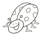 Coloring pages Ladybug humor