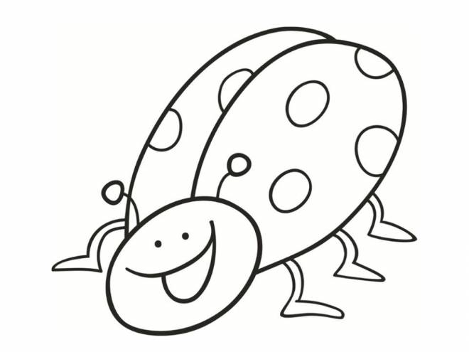 Free coloring and drawings Ladybug humor Coloring page