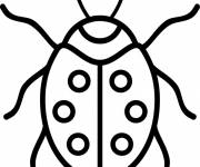 Coloring pages Ladybug in black for children