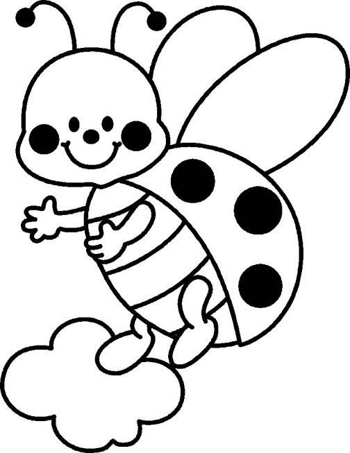 Free coloring and drawings Ladybug in flight Coloring page