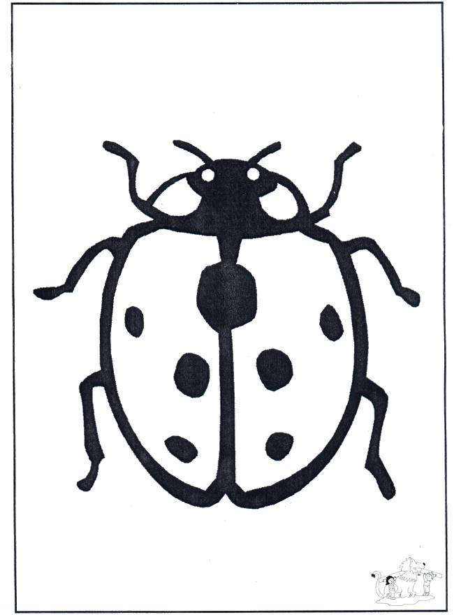 Free coloring and drawings Ladybug in pencil Coloring page
