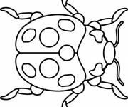 Coloring pages Ladybug with black spots