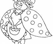 Coloring pages Mother Ladybug