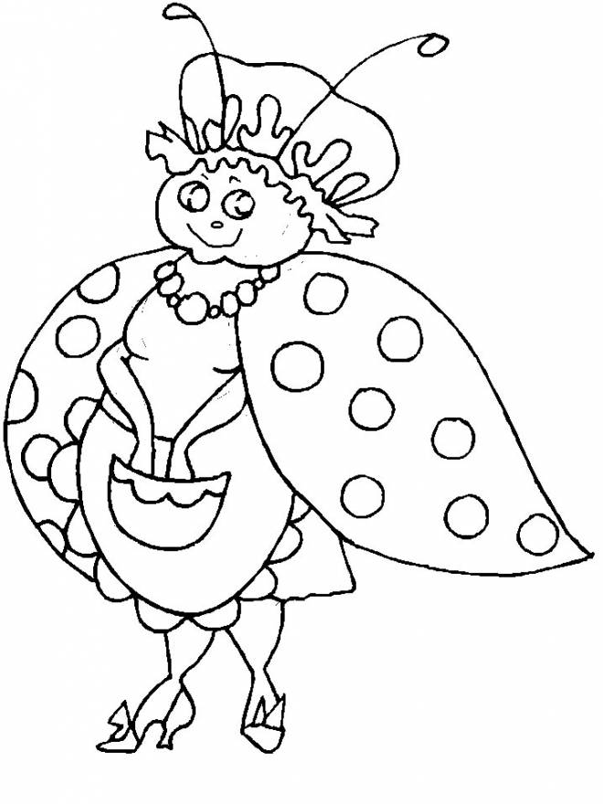 Free coloring and drawings Mother Ladybug Coloring page