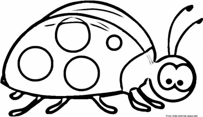 Free coloring and drawings Surprised ladybug Coloring page