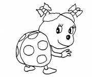 Coloring pages Too cute ladybug