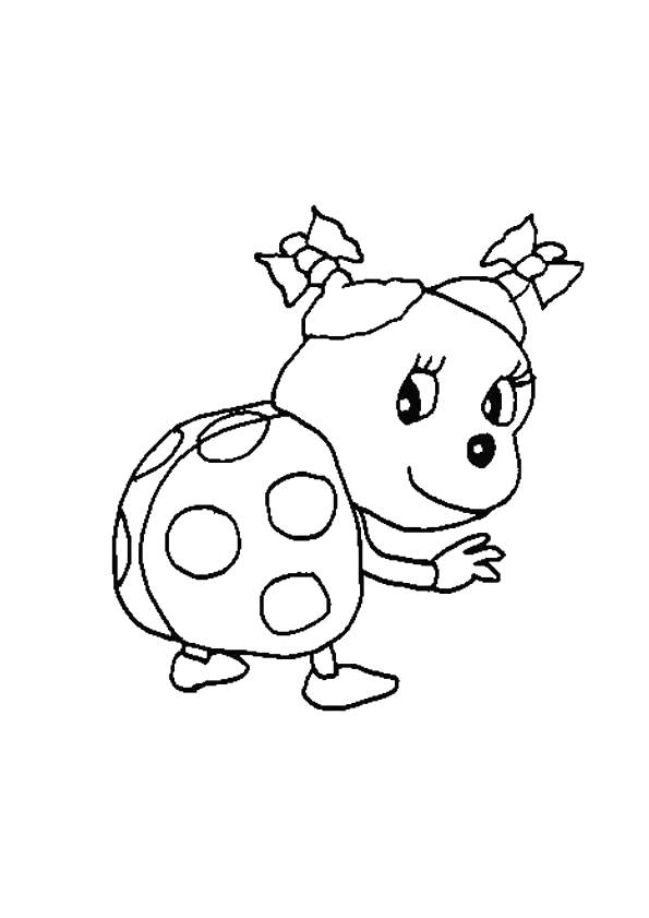 Free coloring and drawings Too cute ladybug Coloring page