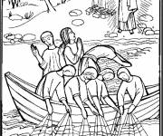Coloring pages Jesus on the Lake