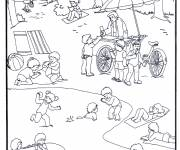 Free coloring and drawings Lake and Activities for Children Coloring page