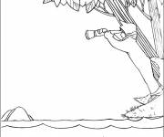 Coloring pages Lake and Child