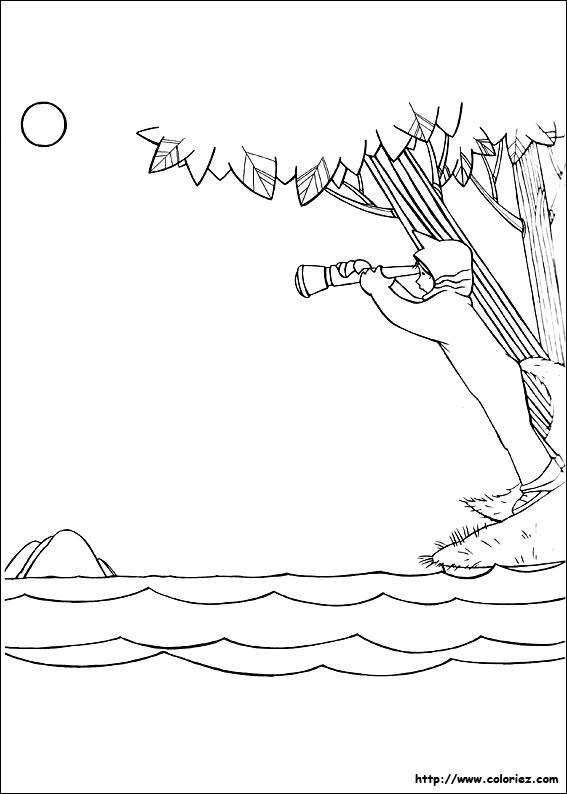 Free coloring and drawings Lake and Child Coloring page