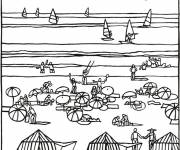 Free coloring and drawings Lake in Summer Coloring page
